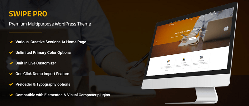Swipe Pro Multipurpose WordPress Theme
