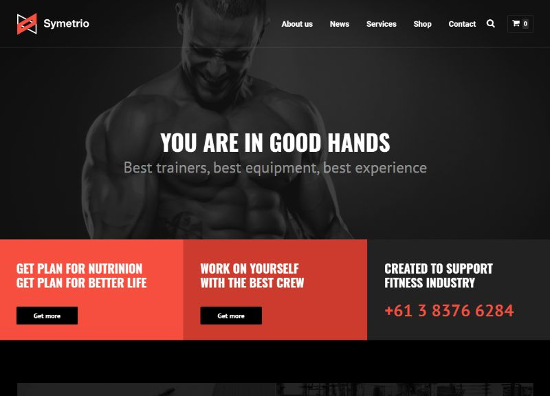 Symetrio Fitness WordPress Theme