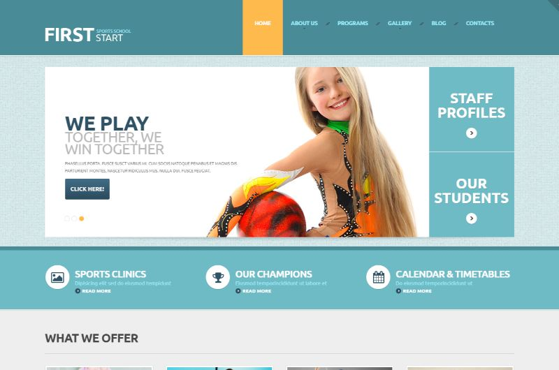 TemplateMonste Sports WordPress Theme