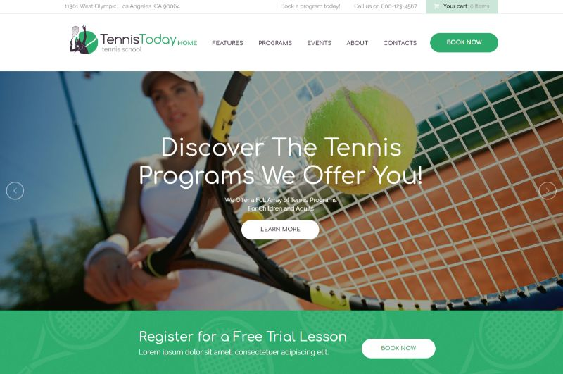 Tennis Today Sports WordPress Theme