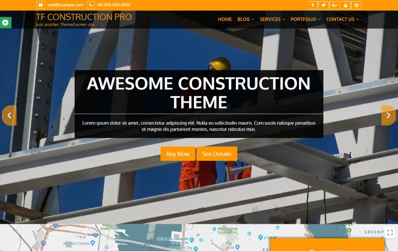 TF Construction Pro Architecture WordPress Theme
