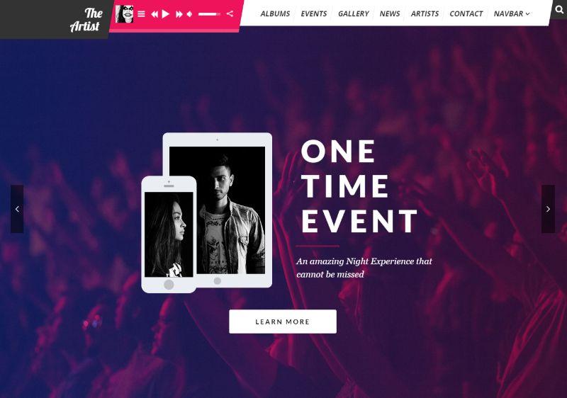 Theartist WordPress Music Theme