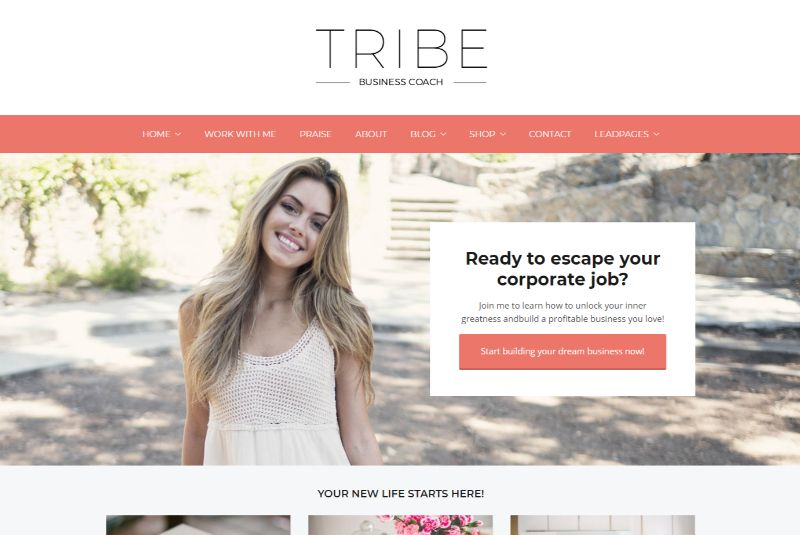 Tribe Coach Feminine WordPress Theme