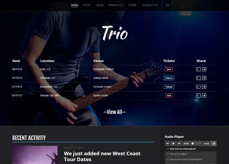 Trio WordPress Music Theme