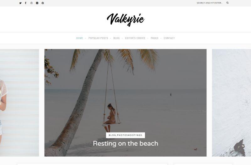 Valkyrie Lifestyle WordPress Theme
