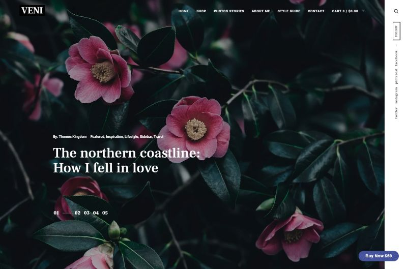 Veni Lifestyle WordPress Theme