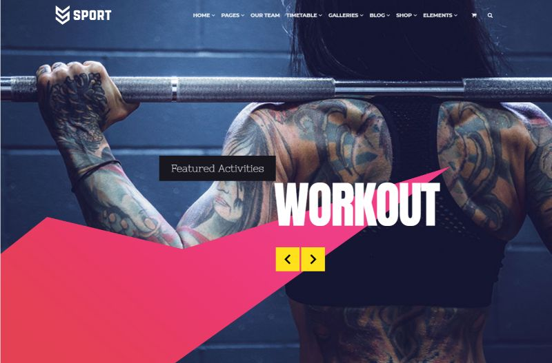 VisualModo Sports WordPress Theme