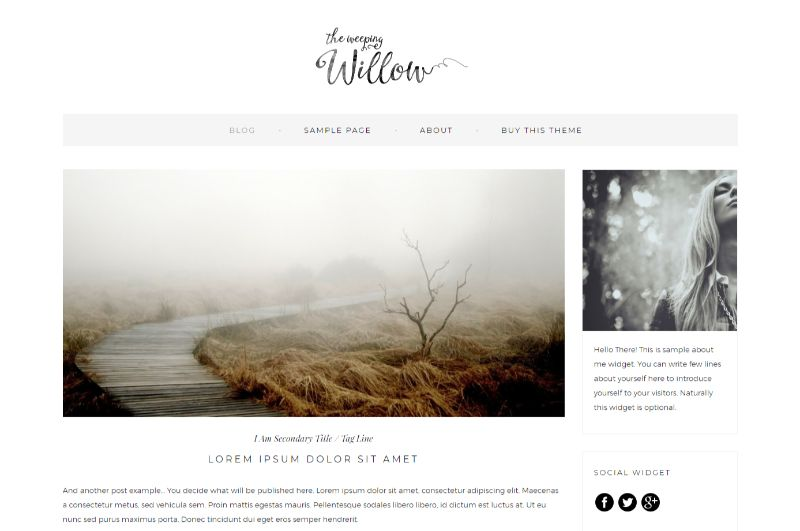 Weeping Willow Lifestyle WordPress Theme
