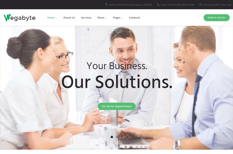 WegaByte Consulting WordPress Theme