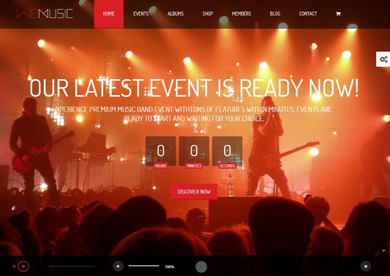 Wemusic WordPress Music Theme