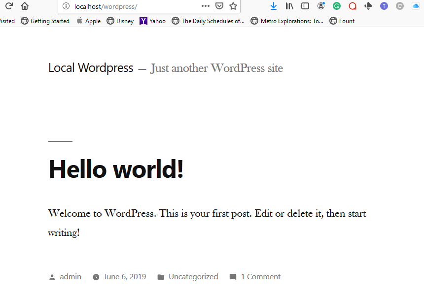 WordPress is live