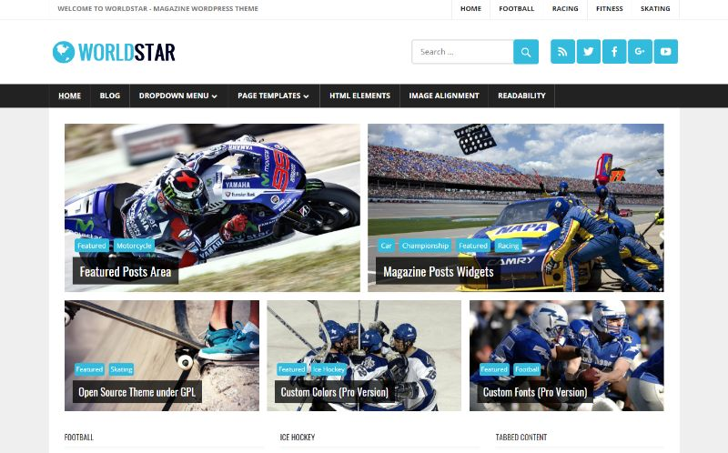WorldStar Sports WordPress Theme