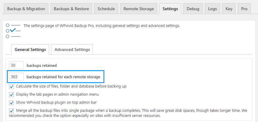 Backup Retention