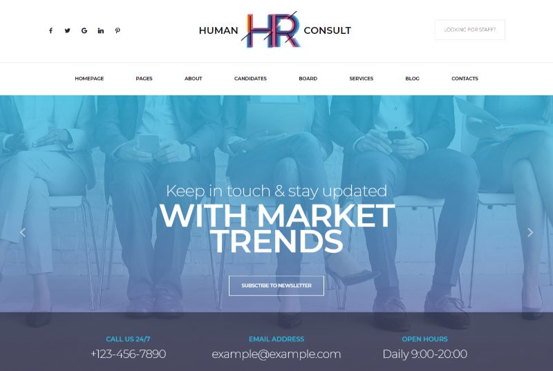 HR Human Consult WordPress job theme