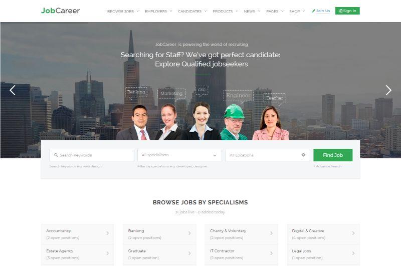 JobCareer WordPress job theme