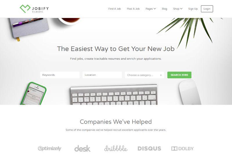 Jobify WordPress job theme
