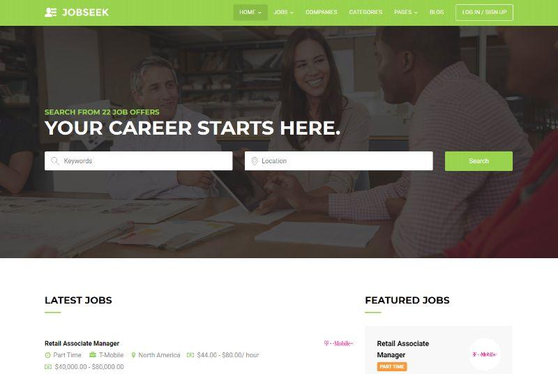 Jobseek WordPress job theme