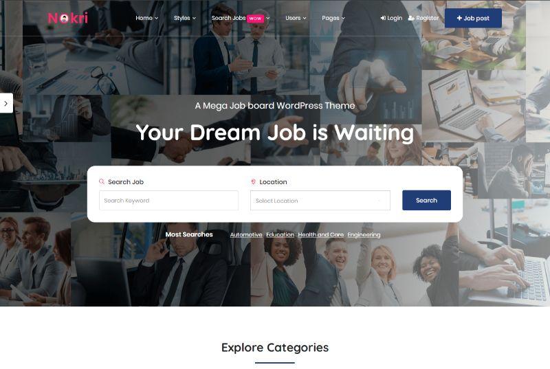 Nokri WordPress job theme