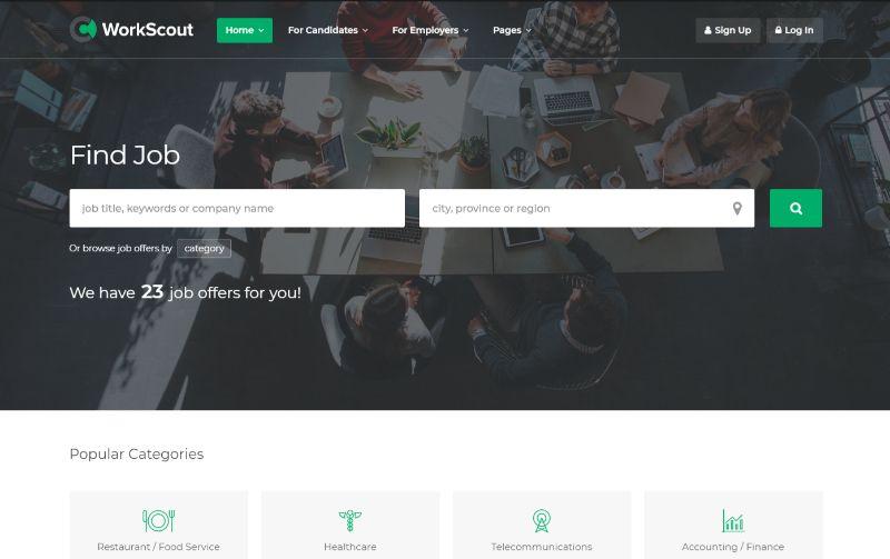WorkScout WordPress job theme