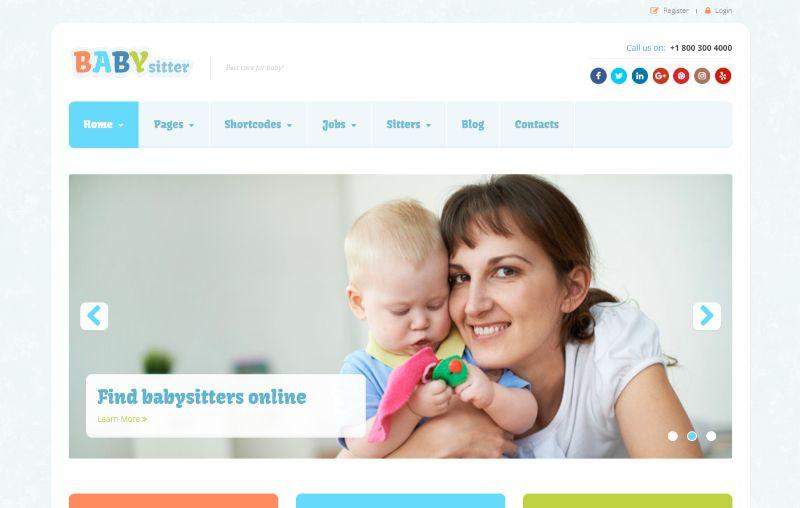 Babysitter WordPress job theme