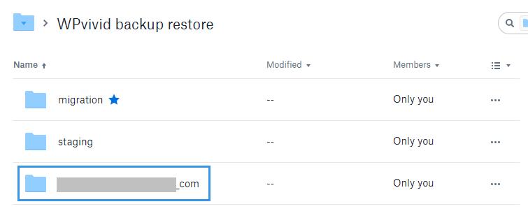 Custom backup folder on remote storage