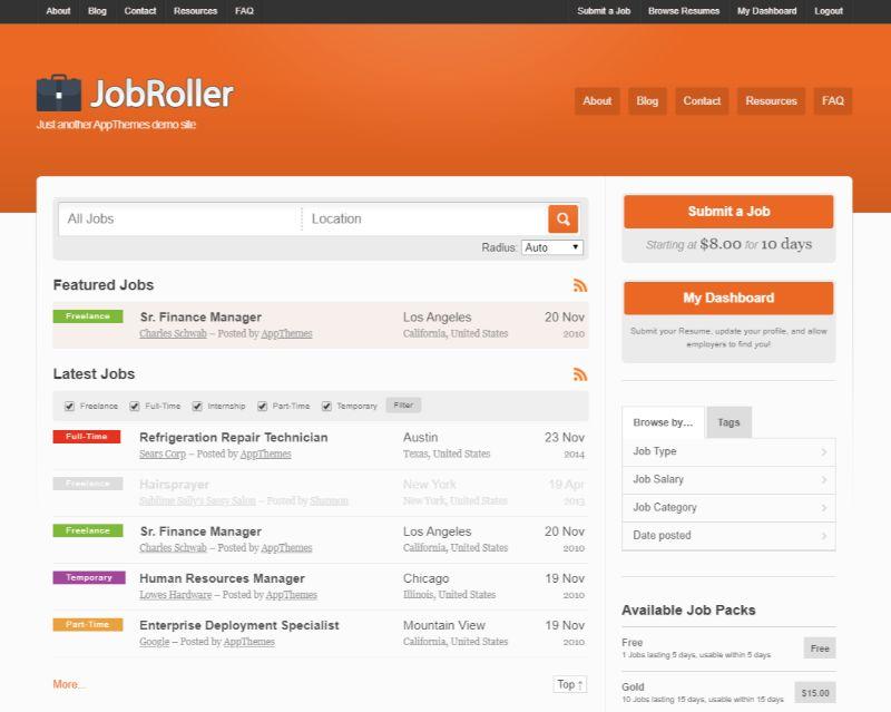 JobRoller WordPress job theme