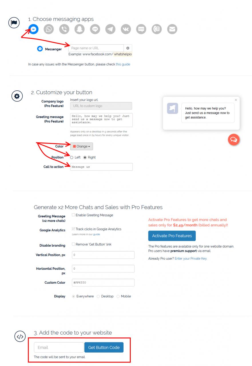Configure WhatsHelp Chat Button WordPress Plugin