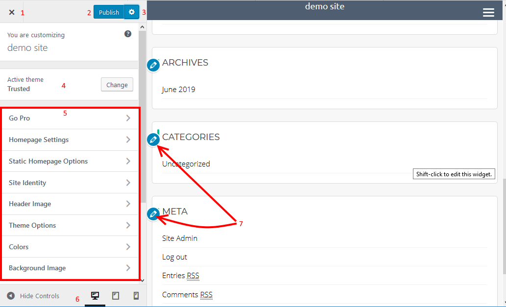 WP Live Customizer tools