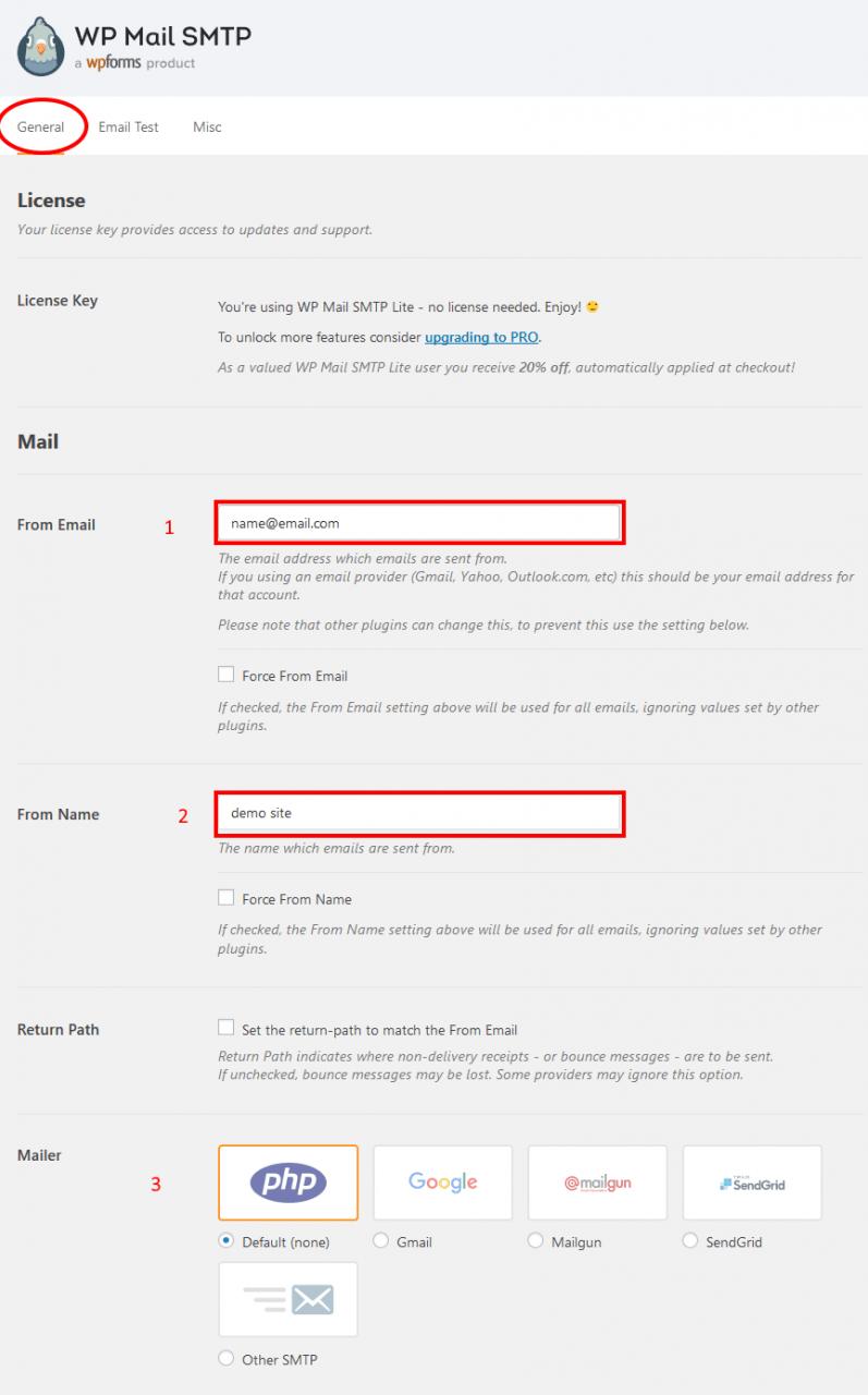 Configure WordPress Mail SMTP Plugin