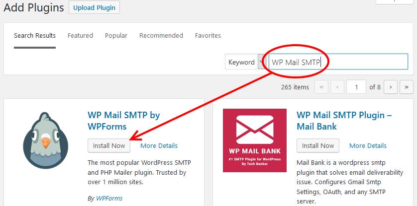 Install WordPress Mail SMTP Plugin