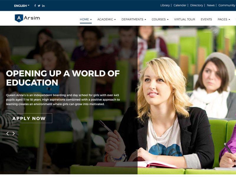 Arsim Education WordPress theme