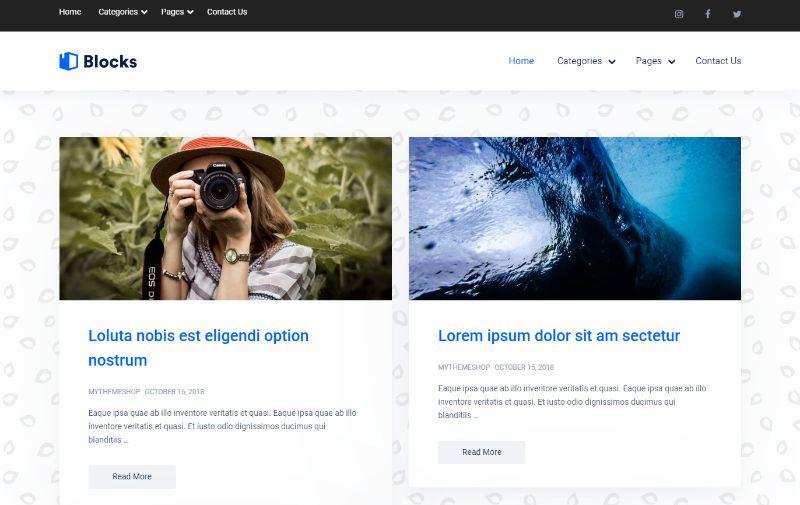Blocks Personal Blog WordPress Theme