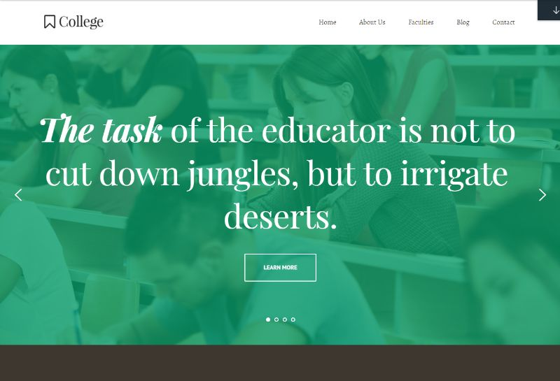 College Education WordPress theme by Themefuse