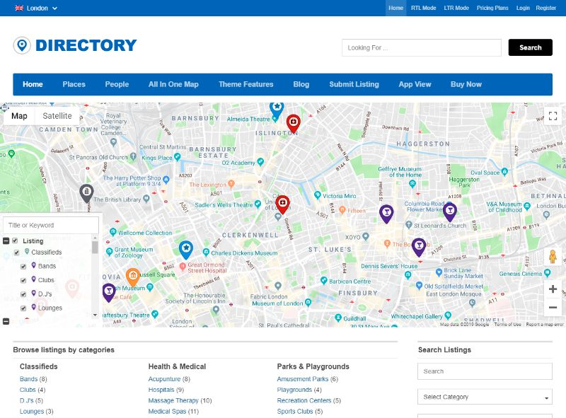 Directory theme by Templatic