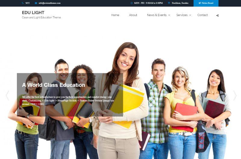 Edu light Education WordPress theme
