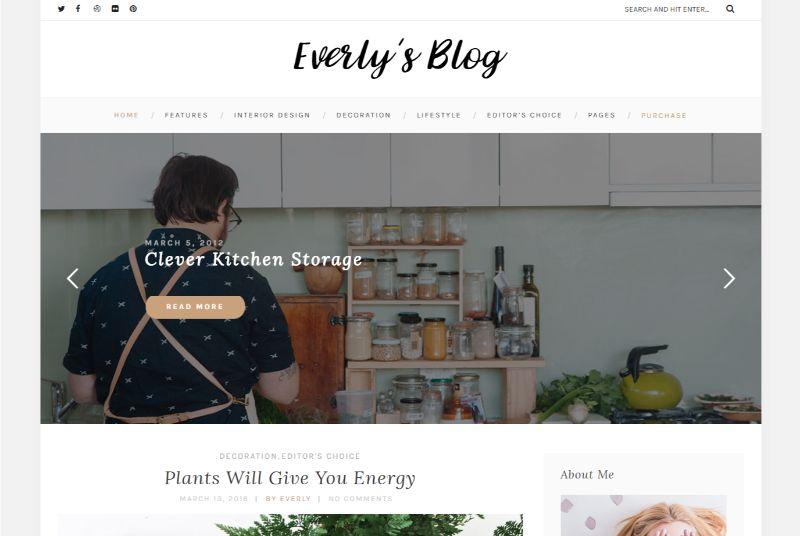 Everly Personal Blog WordPress Theme