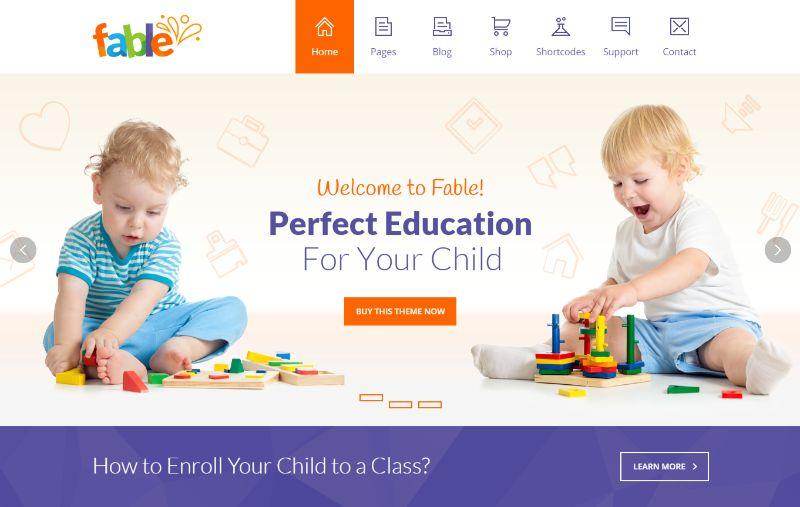 Fable education WordPress theme
