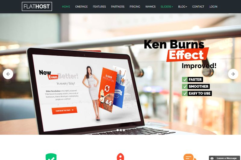 Flathost Hosting WordPress Theme