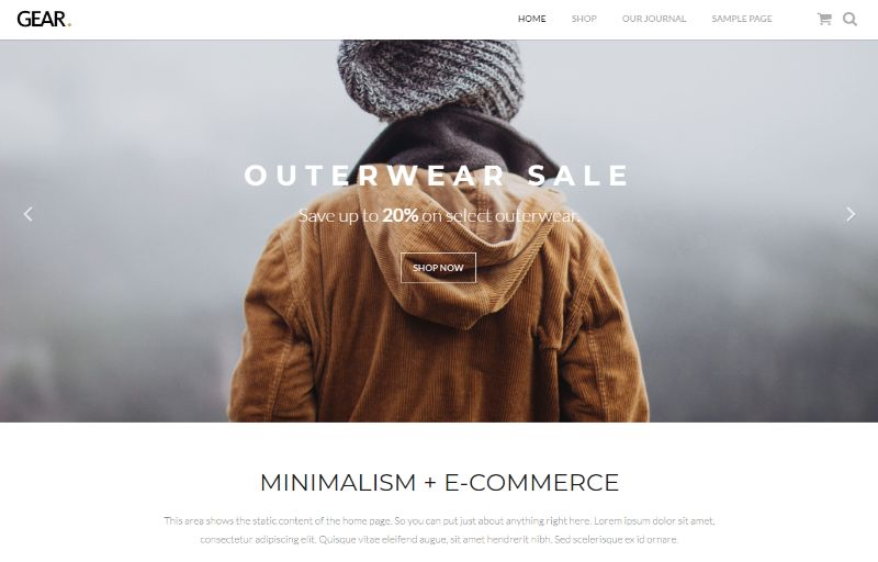 Gear eCommerce WordPress plugin