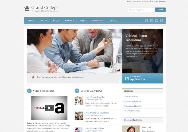 Grande College education WordPress theme