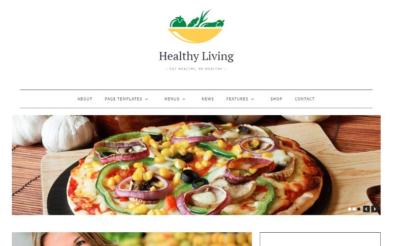 Healthy Living Personal Blog WordPress Theme