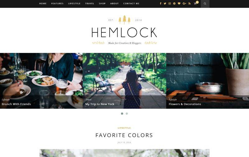 Hemlock Personal Blog WordPress Theme