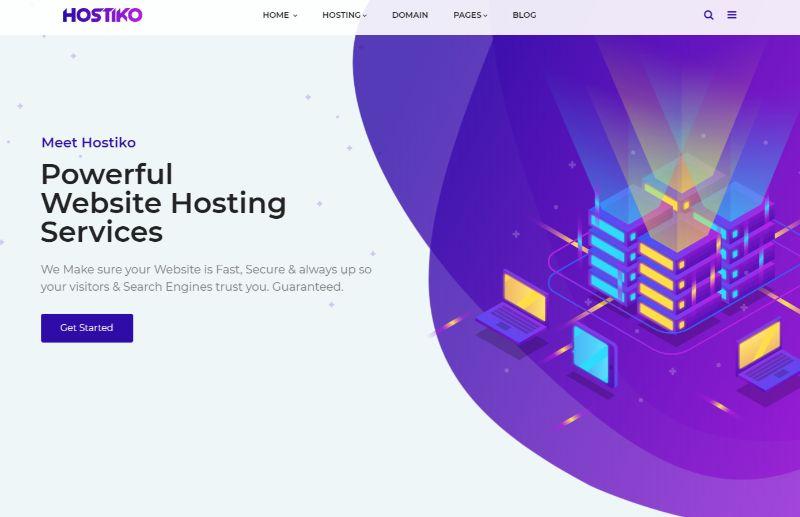 Hostiko Hosting WordPress Theme