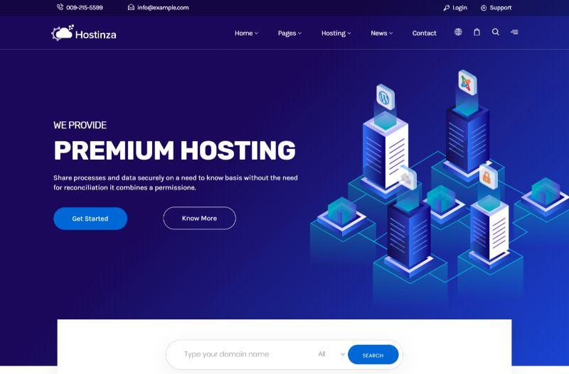 Hostinza Hosting WordPress Theme