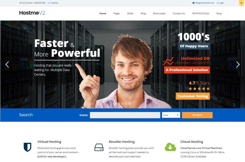 Hostme Hosting WordPress Theme V2