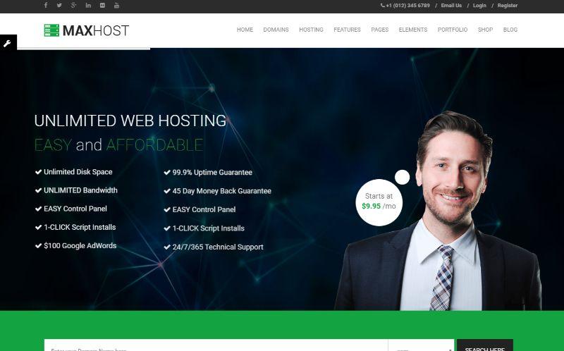 Maxhost Hosting WordPress Theme