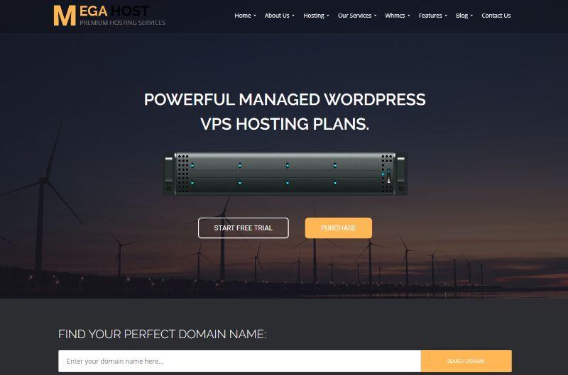 MegaHost Hosting WordPress Theme
