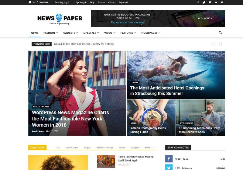 News9aper WordPress News Theme