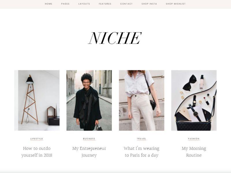 Niche Pro Personal Blog WordPress Theme