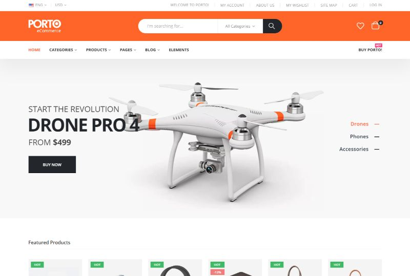 Porto eCommerce WordPress plugin